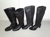 Black ladies boots size 3