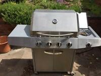 4 burner gas BBQ with gas bottle excellent condition!