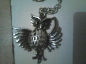 owl necklace new