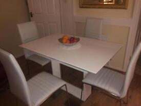 Brand new white marble table