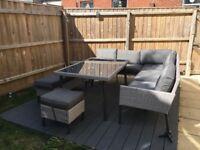 Garden Furniture Set - Corner sofa - Seats up to 9 adults!