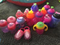 Various assortment of baby/toddler cups