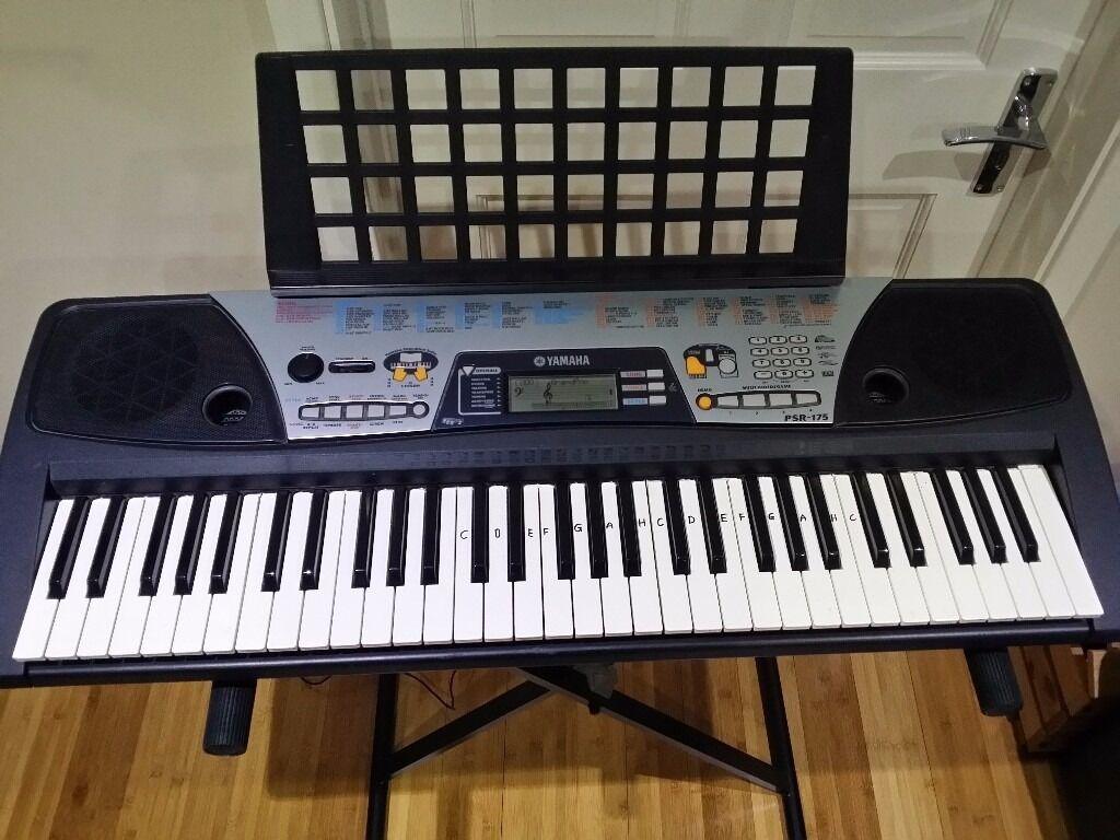 Yamaha psr 175 61 key portable keyboard in bromley for Yamaha piano keyboard 61 key psr 180