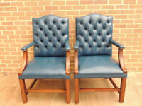 Pair of Grand Chesterfield Chairs (UK Delivery)