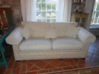 Sofa Bed with Washable Cream Covers British Made in Very Good Condition