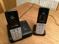 Siemens Gigaset C300 DECT cordless twin phone and answer-machine