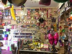 CONTENTS OF PARTY SHOP FOR SALE