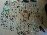 Massive job lot of costume jewellery 100s of items