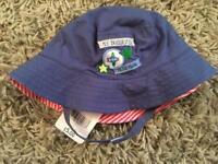 Mothercare blue sun hat 6-12 months
