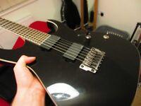 Ibanez RGIR20FE-BK Iron Label Guitar +Hard case