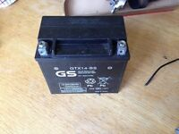 Motorcycle battery gtx14-bs