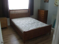 Ikea Dark Pine Hemnes King Size Bed Frame (with free mattress if required)