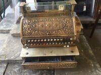 Vintage Brass National Cash Register c1889