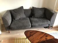 Two seater sofa - charcoal colour