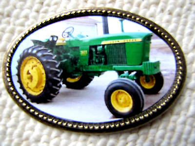 John Deere 1970 Model 3020 Diesel Tractor Epoxy Buckle