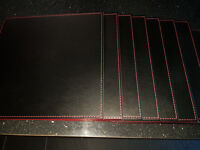 Black Faux Leather Table Mats