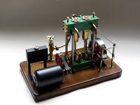 Model steam engine marine twin cylinder
