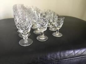 Both pictures of Crystal glasses included in price