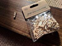 Wedding - Mini Wooden pegs - 140 pieces
