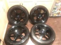 """4x108 Black 17"""" Ford Alloy Wheels"""