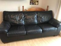 Brown real leather metal action sofa bed