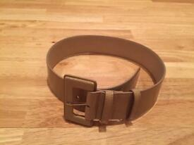 LK Bennett Patent Leather Waist Belt (colour Taupe)