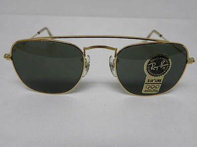 New Vintage B&L Ray Ban Classic Collection Style 5 W1344 Square Caravan Aviator