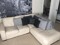 L shape leather couch £200 ono