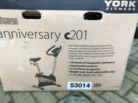 York Fitness exercise bike - excellent condition hardly used