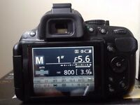 Nikon D5200 DSLR Camera with 18-55mm Lens and accessories