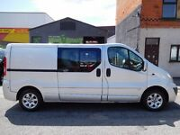 NO VAT... Vauxhall Vivaro LWB Sport 6 seat factory fitted crew van with full service history (1)