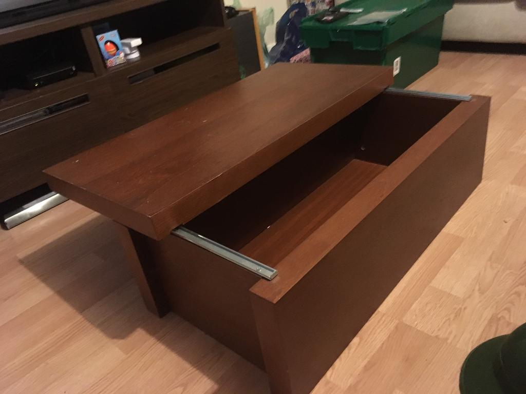Sliding coffee tablein Ely, CambridgeshireGumtree - A easy sliding coffee/storage table for sale. Still in good condition. Measurements 100x40cm Collection only. Either from Ely or from Waterbeach where I work