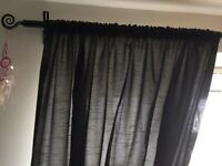 Black fully lined curtains