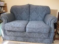 Smart two-seater sofa, blue