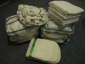 Kushies Washable/ Re-usable nappies infant starter bundle