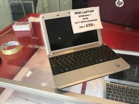 "Advent mini laptop 10"" windows 7 1GB 80gb used"