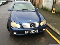 02 MERCEDES C220 CDI AUTO FULL CAR BREAKING FOR ANY PARTS CALL ON