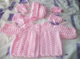 HAND KNITTED MATINEE SETS