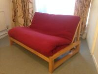 Futon Company Linear Sofa Bed Birch Wood Base+Thick Sofabed Mattress+Cover. Cost £649 (Can Deliver)