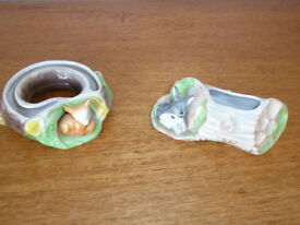Two Hornsea Pottery posy bowls
