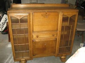 Beautiful ornate vintage bureau, sideboard solid wood, carved, quality