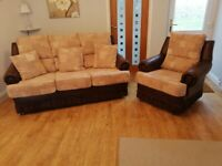 Small 3 Seat Settee and Armchair