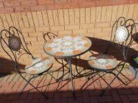 Bistro patio set