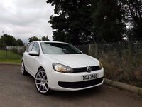 WHITE VOLKSWAGEN GOLF 1.6 TDI ONLY £30TAX FINANCE & WARRANTY AVAILABLE