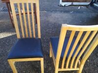 2 good condition dining chairs