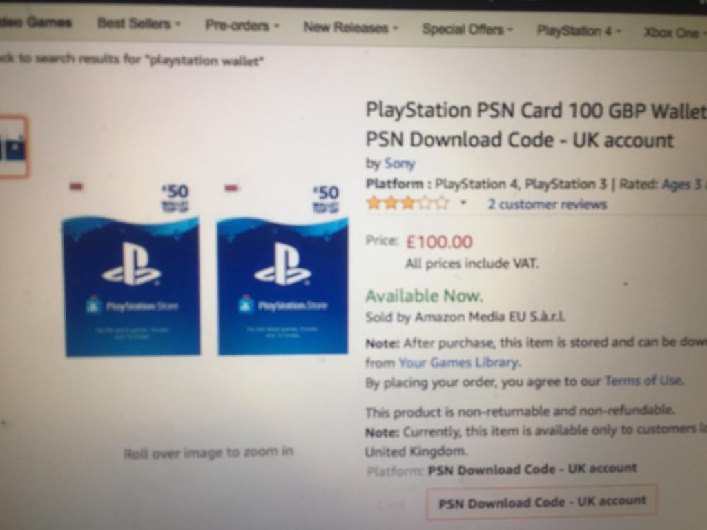 Playstation Network Wallet Top Up Uk Karmashares Llc Leveraging Psn Card 20 100
