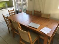 Dining table (large, extendable, IKEA Stornäs)