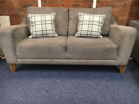 Harvey's Ex Display 2 Seater Grey Sofa - Can Deliver