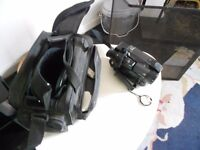 Older style Panasonic Digital Camera with Case and Charger