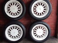 Sharktooth 15in alloy tyres for sale